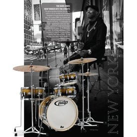 PDP PDP Daru Jones New Yorker Drumset w/ Hardware & Bags