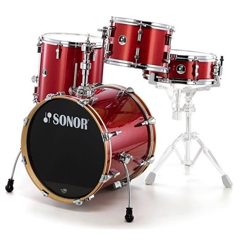 Sonor Bop SE 4 Piece Shell Pack in Red Galaxy Sparkle