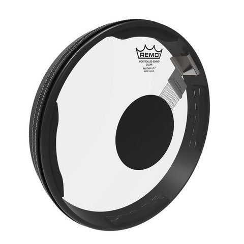 Remo Drumhead, Rhythm Lid Snare Kit, Controlled Sound®, Clear, Black Dot On Top