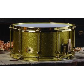 Noble & Cooley SS Classic 7x14 Solid Tulip Snare Drum in Gold Sparkle Finish w/ Gold Hardware