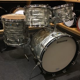 Vintage Ludwig 1970's Hollywood 4 Piece Shell Pack (22/12/13/16) in Sky Blue Pearl