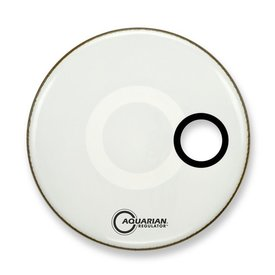 "Aquarian Aquarian Regulator Series Small Hole 26"" Drumhead with Ring - White"