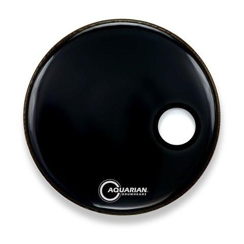 "Aquarian Ported Small Hole 16"" Bass Drumhead - Black"