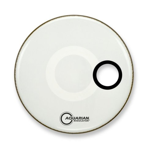"Aquarian Ported Small Hole 16"" Bass Drumhead - White"
