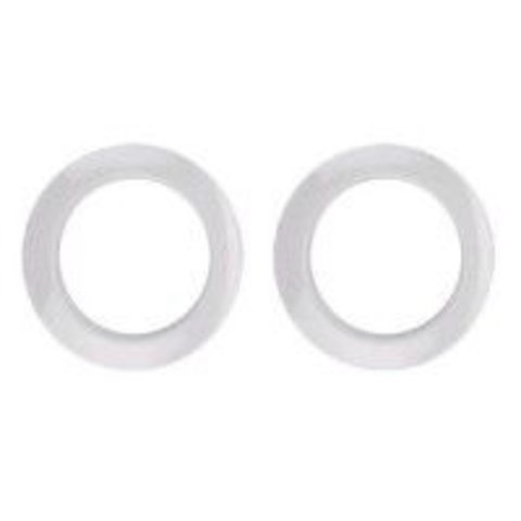 "Bass Drum O's 2"" White Drum O's/Tom Ports (2 Pack)"
