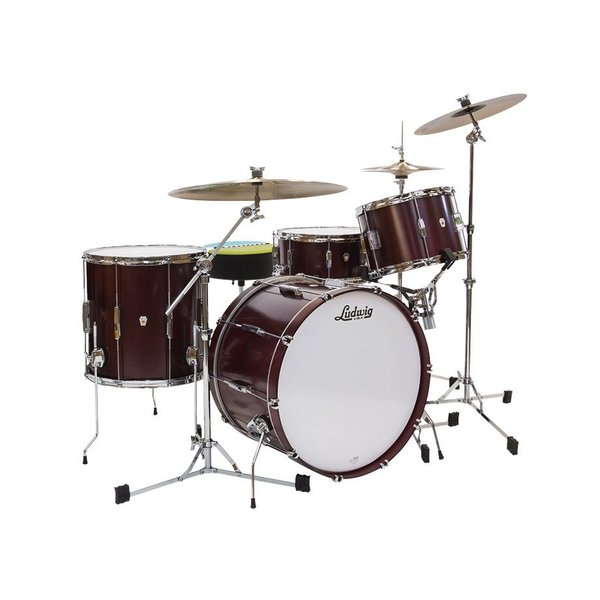 Ludwig Ludwig Club Date 3 Piece Super Classic Shell Pack in Cherry Satin Finish *FACTORY B-STOCK*