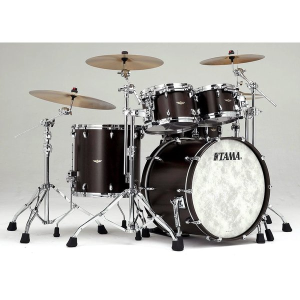 Tama Tama Star Walnut 4 Piece Shell Pack in Black Satin Walnut Finish