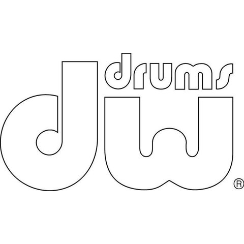 DW Bass Drum Sticker Decal; White