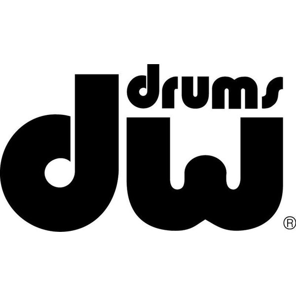 DW DW Bass Drum Sticker Decal; Black