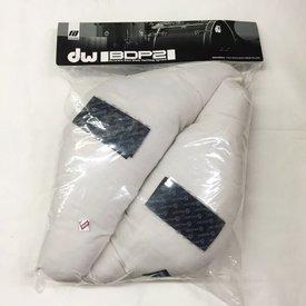 DW DW 2 Piece Bass Drum Muffler Pillow Set; White