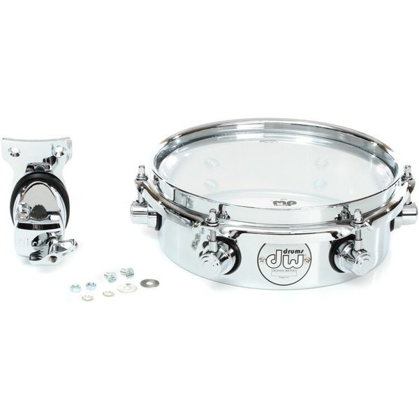 "DW DW Design Series 8"" Piccolo Tom w/ Bracket; Chrome"