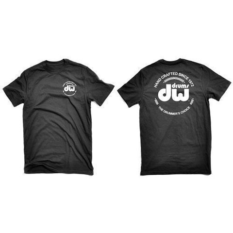 DW Black Heavy Cotton Short Sleeve Tee W/ Corporate Logo-M