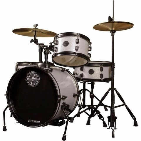 Ludwig Pocket Kit by Questlove in Silver Sparkle