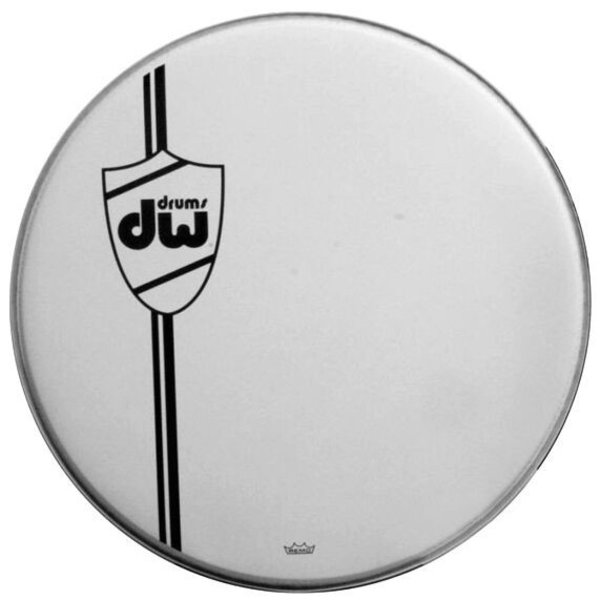 """DW DW Coated Wht Bass Drum Head, Classic 22"""""""