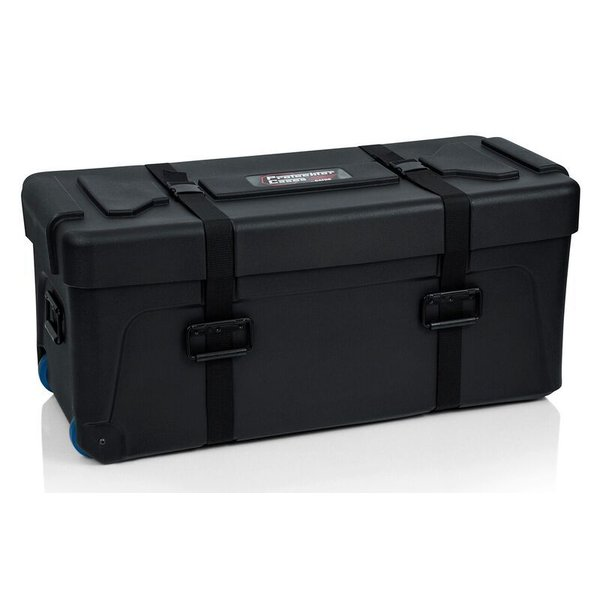 "Gator Gator Deluxe Molded Drum Hardware Trap Case with Removable Tray and Heavy-duty Recessed Wheels - 36""X14""X16"""