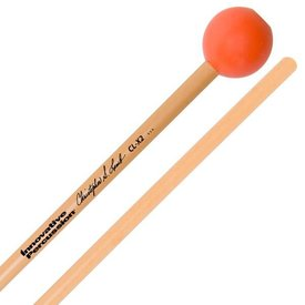 Innovative Percussion Innovative Percussion Medium Dark Xylophone Mallets - 1 Synthetic Top-Weighted - Orange - Rattan