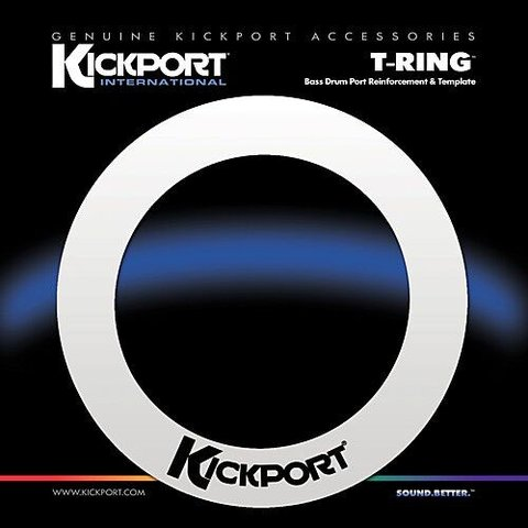 KickPort T-Ring Bass Template - White