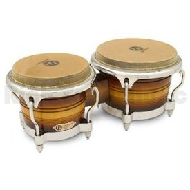 LP LP Generation II Wood Bongos, Matte Sunburst/Chrome