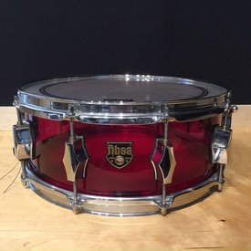 Used Used Fibes Crystalite MFT 5.5x14 Red Snare Drum