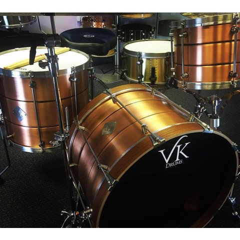 VK Drums Beaded Copper 3 Piece Shell Pack (22/13/16)
