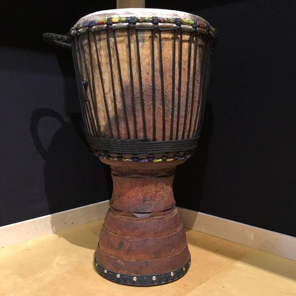 Holy Drums Ivory Coast Djembe, Iroko Wood, Large Size
