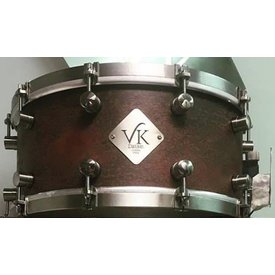 VK Drums Raw Copper 6.5x14 Snare Drum w/ Stainless Straight Hoops