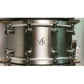 VK Drums VK Drums Stainless Steel 7x14 Snare Drum w/ Stainless Straight Hoops