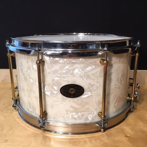 Used Joe Montineri 8x14 Custom Snare Drum; Built For and Owned By Joey Kramer of Aerosmith