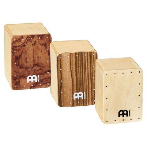 Meinl Mini Cajon Shaker, Bubinga / Natural / Zebrano Front, Three Different Volumes