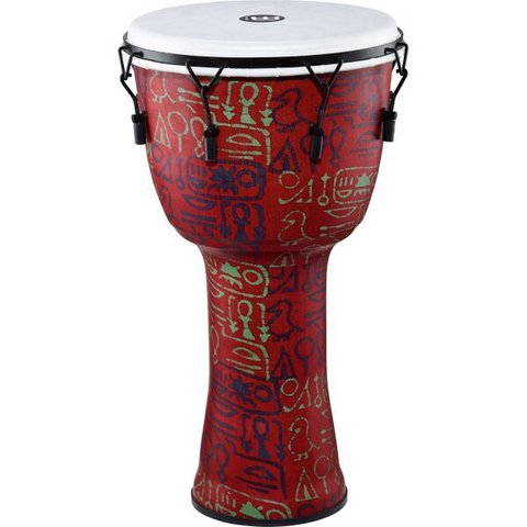 Meinl Mechanical Tuned Travel Djembe 14, pharaoh's script, synthetic head