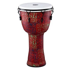 Meinl Meinl Mechanical Tuned Travel Djembe 12, pharaoh's script, synthetic head