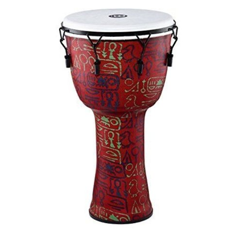 Meinl Mechanical Tuned Travel Djembe 12, pharaoh's script, synthetic head