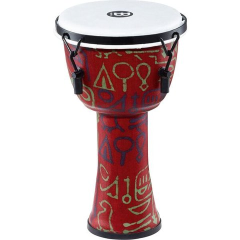 "Meinl Mechanical Tuned Travel Djembe 8"", Pharaoh's Script, Synthetic Head"
