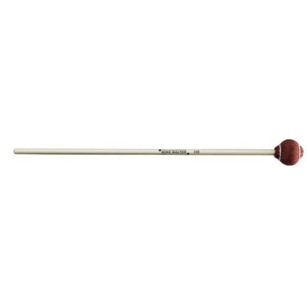 """Mike Balter Mike Balter 24B Pro Vibe Series 16 1/2"""" Soft Red Cord Marimba/Vibe Mallets with Birch Handles"""
