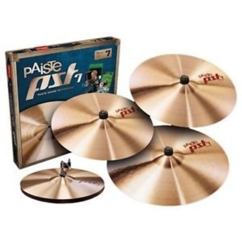 "Paiste PST7 Series Limited Edition Light/Session Cymbal Set (14"", 18"", 20"") W/ FREE 16"" CRASH"