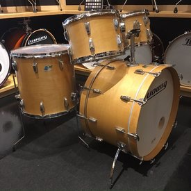 Vintage Ludwig 1970's Big Beat 24 Thermogloss 4 Piece Shell Pack