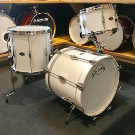 George Way Tradition Tuxedo Walnut 3 Piece Bop Shell Pack in Matte White Finish