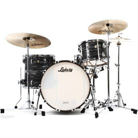 Ludwig Ludwig Classic Maple Downbeat 3 Piece Shell Pack in Vintage Black Oyster Pearl w/ FREE 5x14 Snare Drum