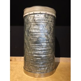 Used Vintage Sky Blue Pearl Canister Drum Throne