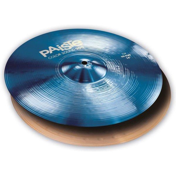 """Paiste Paiste Color Sound 900 Blue 14"""" Heavy Hi Hat Cymbals"""