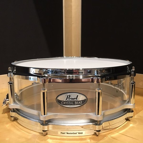 Pearl Pearl Crystal Beat Ultra Clear Acrylic 5x14 Free Floating Snare Drum