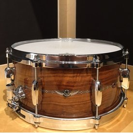 Tama Tama Star Drums Bubinga 6.5x14 Snare Drum in Natural Indian Laurel Finish