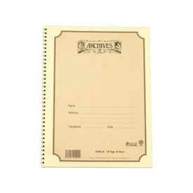 D'Addario Archives Spiral Bound Staff Paper; 10 Stave, 48 Pages