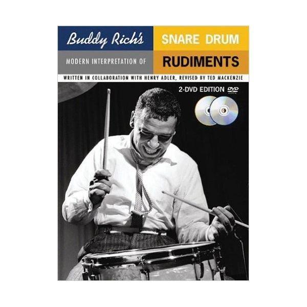 Hal Leonard Buddy Rich's Modern Interpretation Of Snare Drum Rudiments by Ted MacKenzie; Book & 2 DVDs