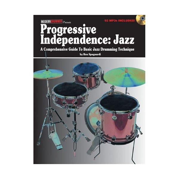 Hal Leonard Progressive Independence: Jazz by Ron Spagnardi; Book & CD