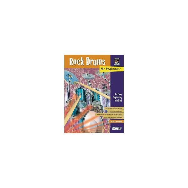 Alfred Publishing Rock Drums for Beginners by Pete Sweeney; Book and DVD