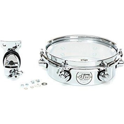 "DW Design Series 10"" Piccolo Tom w/ Bracket; Chrome"