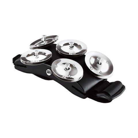 Meinl Cajon Foot Tambourine with 5 Pairs of Steel Jingles & Adjustable Strap