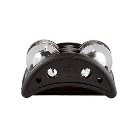 Meinl Meinl Compact Foot Tambourine Plastic w/ Steel Jingles, ,Black