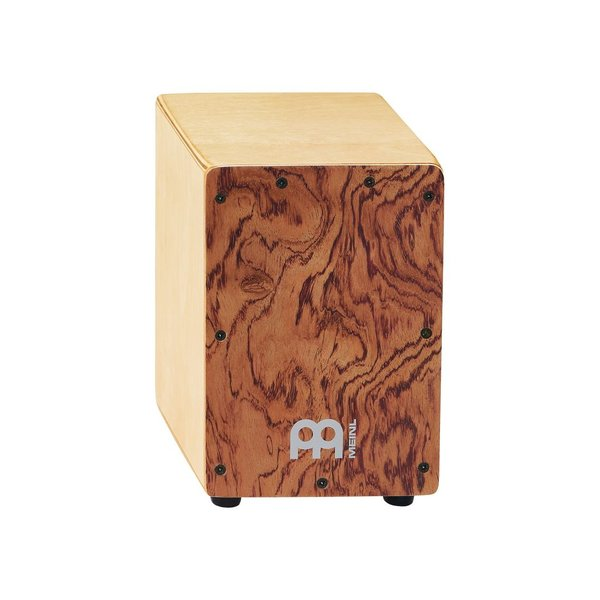 "Meinl Meinl Mini Cajon 5 3/4 W x 8 3/4 H x 5 3/4"" D Frontplate: Body: Natural, Frontplate: Bubinga"